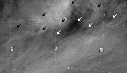 Wind vectors on Venus