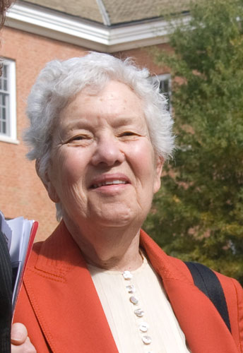 Vera Rubin at a NASA-sponsored Women in Astronomy and Space Science Conference in 2009.  NASA
