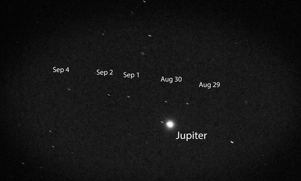 Asteroid Vesta near Jupiter