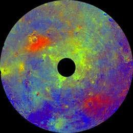 Vesta in rainbow