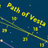 Vesta's path in 2011