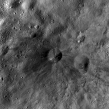 Dark splash on Vesta