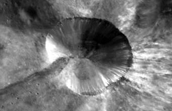 Bright crater on Vesta
