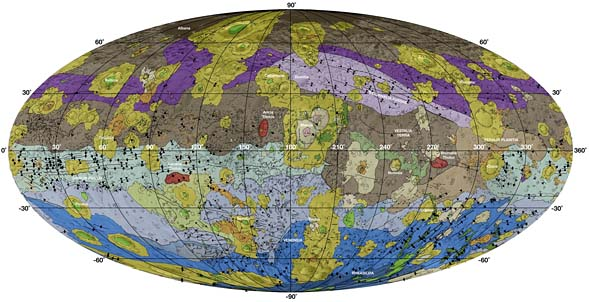 Geologic map of asteroid 4 Vesta