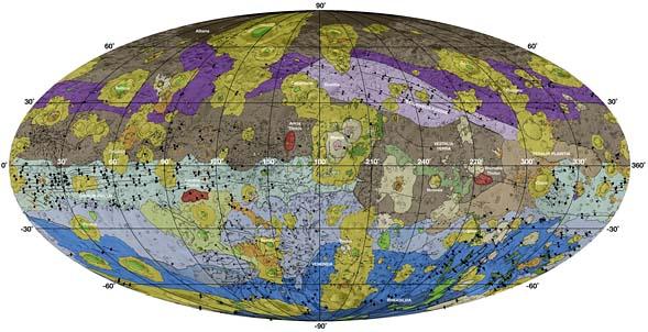 Geologic map of asteroid 4 Vesta