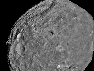 NASA's Dawn spacecraft obtained this image of the giant asteroid Vesta with its framing camera on July 24, 2011.