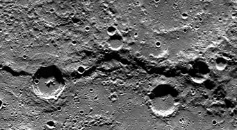 Victoria Rupes on Mercury