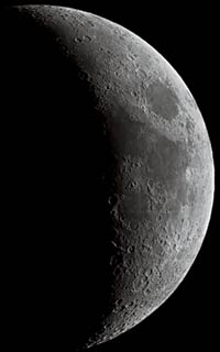 Crescent Moon from video image