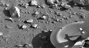 Viking's first image from Martian surface