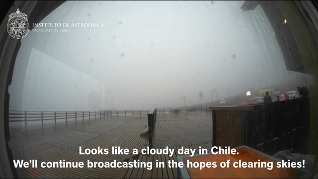 Rainy eclipse day in Chile