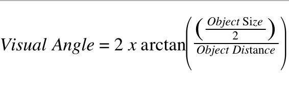 Visual Angle Formula