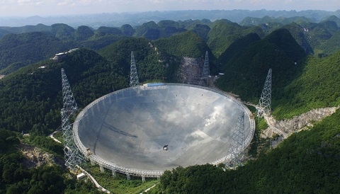 FAST radio telescope, the world's largest single-dish radio telescope!