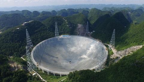 FAST radio telescope, the world's largest single-dish radio telescope!