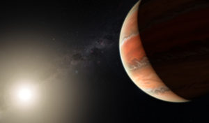hot exoplanet with titanium oxide