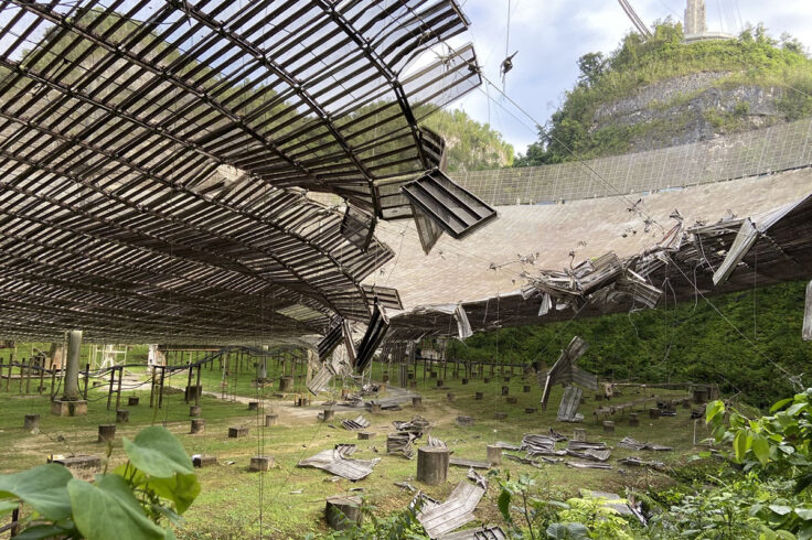 Arecibo dish damage