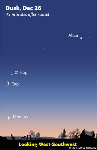 Mercury in twilight, Dec. 26, 2015