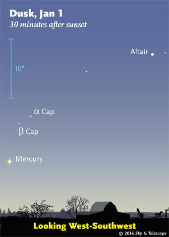 Mercury at dusk, Jan. 1, 2016