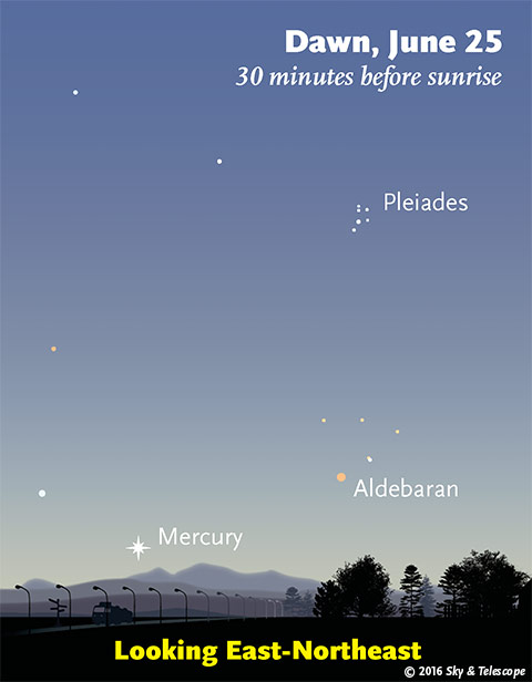 Mercury at dawn, June 25, 2016