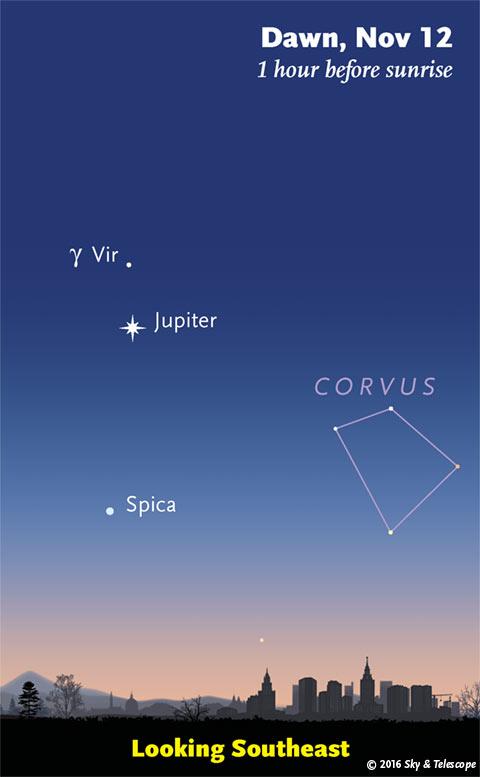 Jupiter at dawn, Nov. 12, 2016