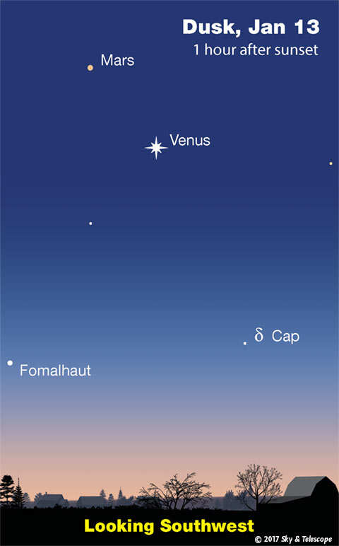 The Venus-Mars-Fomalhaut triangle, Jan. 13, 2017