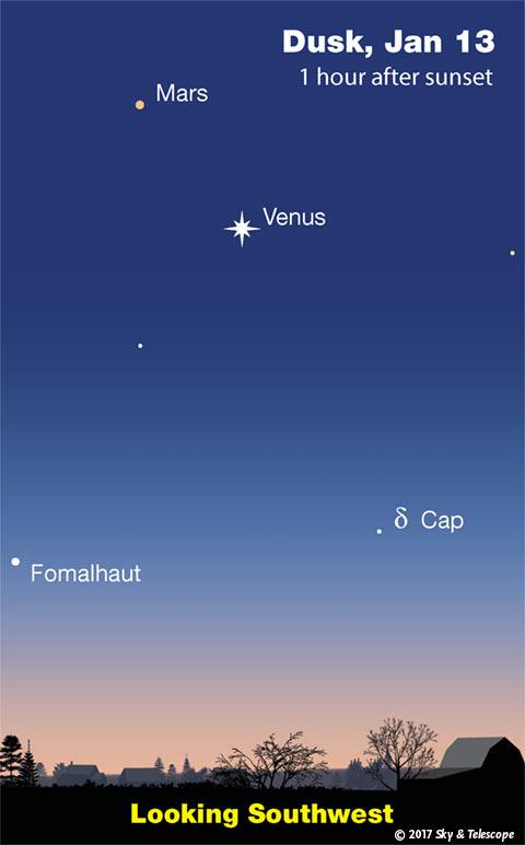 The Venus-Mars-Fomalhaut triangle, Jan. 13, 2017