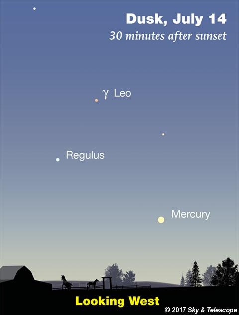 Mercury in twilight, mid-July 2017