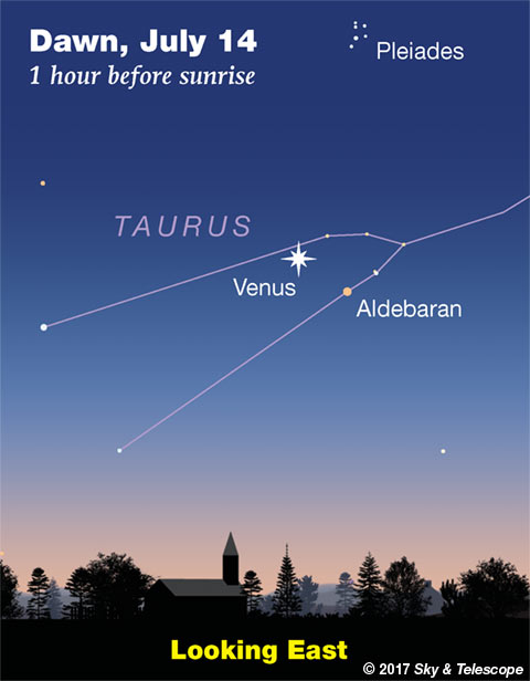 Venus and Aldebaran, July 14, 2017