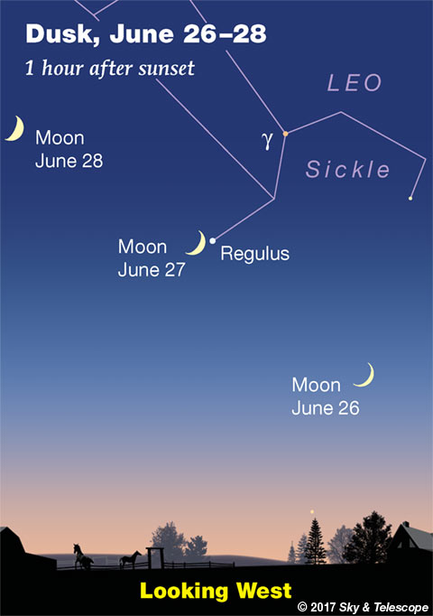 Moon and Regulus, June 27, 2017