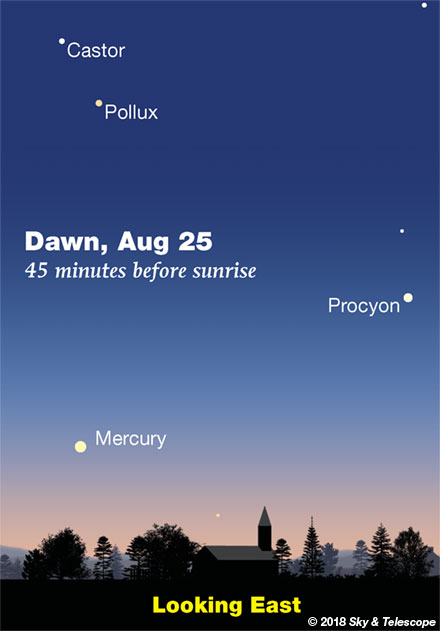 Mercury in the dawn, late August 2018