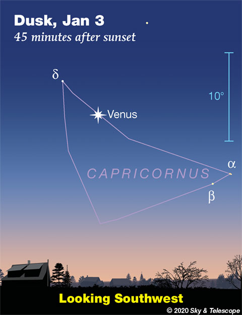 Venus in Capricornus, Jan. 3, 2019