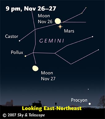 Moon in Gemini in late evening