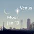 The crescent Moon meets Venus