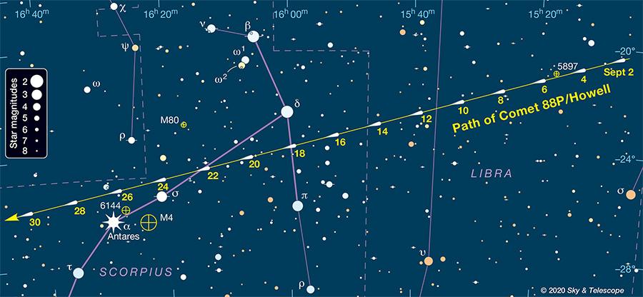 Comet 88P/Howell finder chart