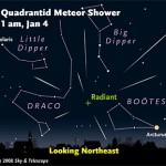 Where to see Quadrantid meteors