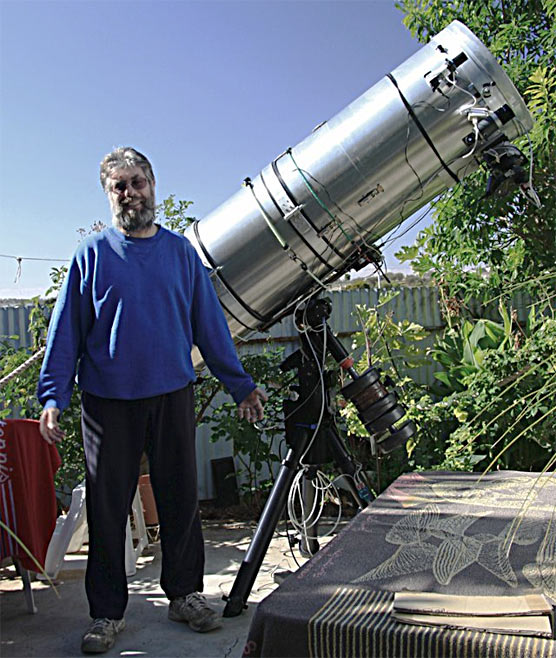 Anthony Wesley and discovery telescope