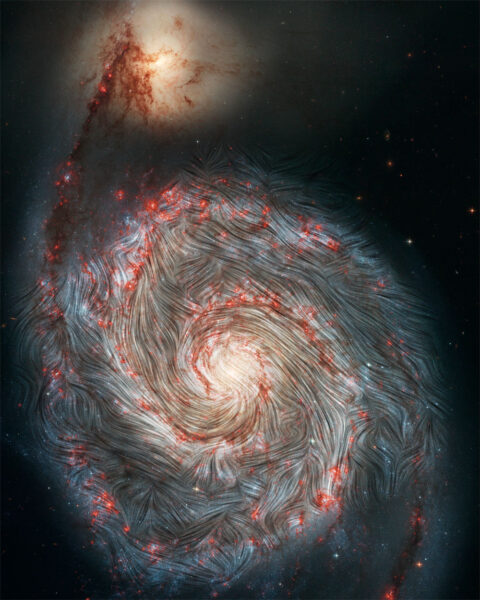 Magnetic Whirlpool Galaxy