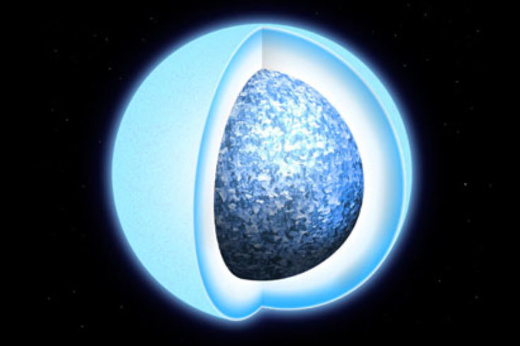 White dwarf with crystal core