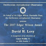 Edgar Wilson Award plaque