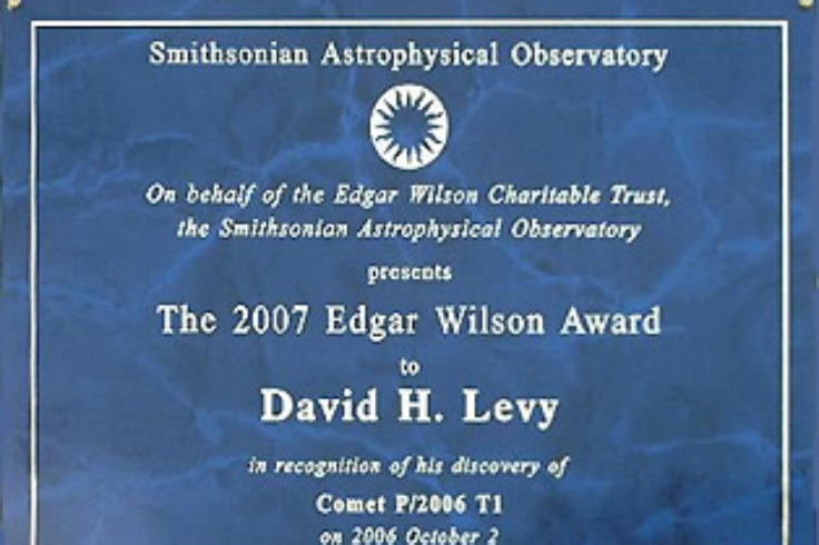 Edgar Wilson Award plaque