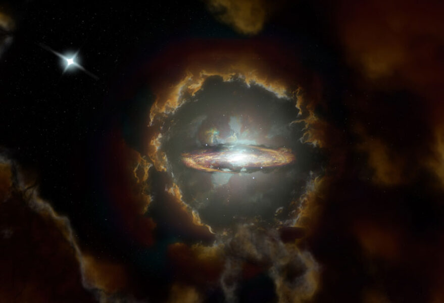 Artist's concept of early disk galaxy
