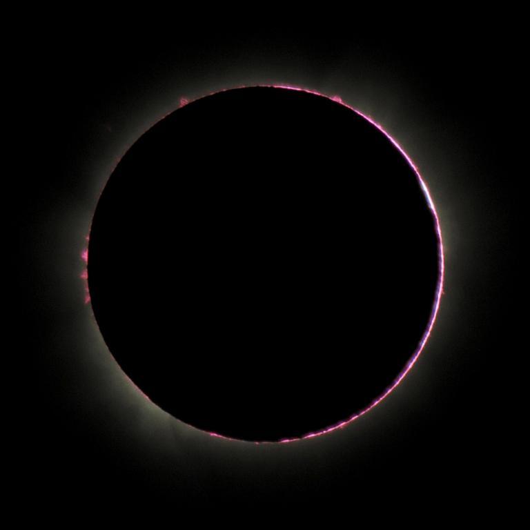 Chromosphere above Pokwero, Uganda.