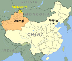 Map of China's Xinjiang region