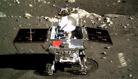 China's Yutu rover on the Moon