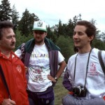 Mauro Zanotta (right) talks with comet expert John Bortle (left) and fellow Italian amateur Massimo Uberti during the 1992 Stellafane convention in Springfield, Vermont, in the summer following his co-discovery of Comet Zanotta-Brewington, C/1991 Y1.