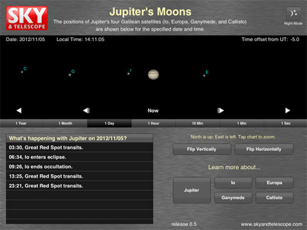 JupiterMoons main screen
