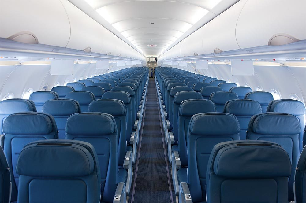 Interior of Latam's A320 aircraft