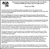 AAS Statement