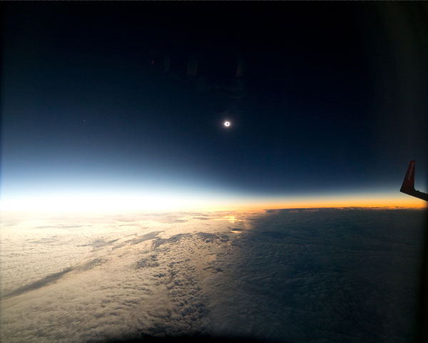 Totality from above