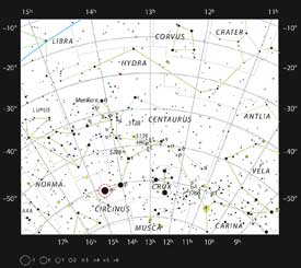 star chart of alpha centauri