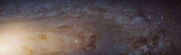 slice of Andromeda Galaxy